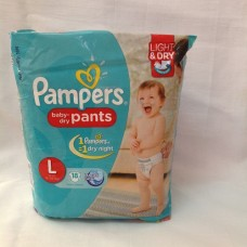 PAMPERS L BABY DRY PANTS FOR 9-14KG
